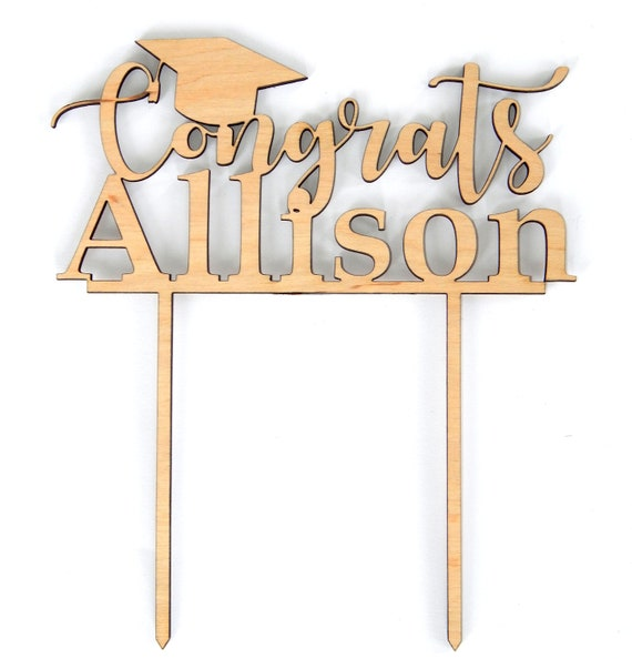 Personalized cake topper Graduate/'s Name class of 2019 Graduation Party Decor