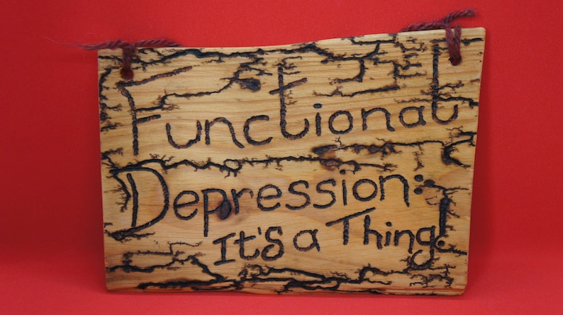 Functional depression  it's a thing sign lichtenberged image 0