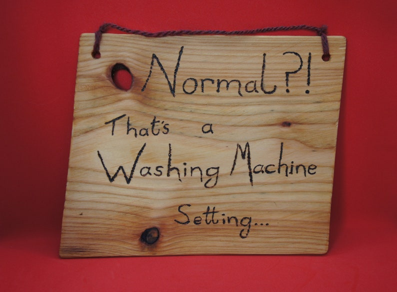 Normal That's a Washing Machine Setting sign  large image 0