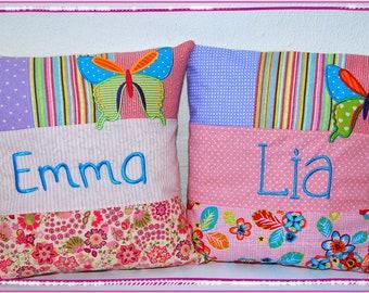 Name Pillow Pillow Case 40x40 Patch Pillow with Name Cuddly Pillow Favorite Pillow Sofa Pillow Birth Pillow