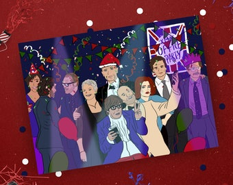 British Invasion Christmas Card, Spy Card, Celebrity Xmas card, Pop culture card