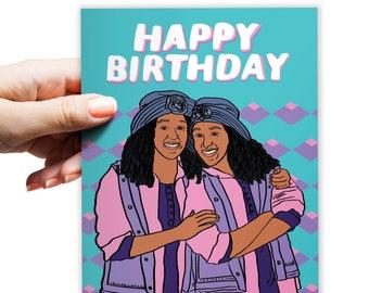 Sister Sister | Birthday Card Sister | Twins Birthday | Funny Birthday Card | Birthday Card Best Friend | Tia & Tamara | Happy Birthday