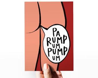 Funny Christmas Card | Cheeky Christmas Card | Christmas Card Boyfriend | Toilet Humour | Fart Joke Card | PaRumpumPumum | Christmas card
