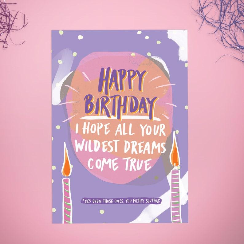 Funny Birthday Card Rude Birthday Card Sister Birthday