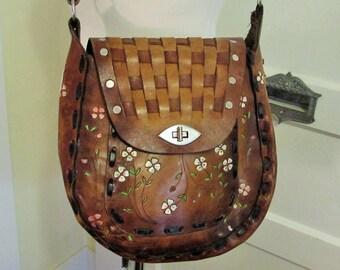 df9533ccbd6 shabby western leather bag, 1970 s