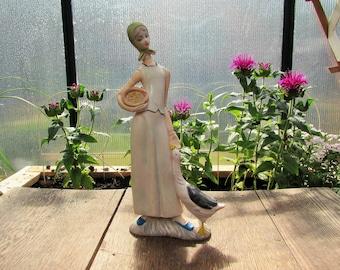 Fattoria girl plastic figurine Italy