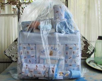 Peter Rabbit baby boy diaper bag set