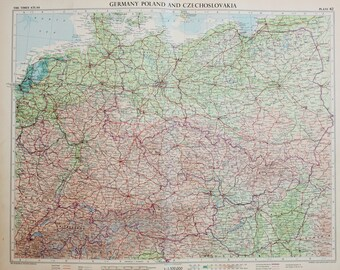 West germany map | Etsy
