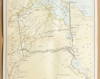 Large Antique Egyptian Map of Egypt /& Arabia Petraea Middle East A3 Reproduction