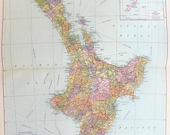 Neuseeland Nordinsel Karte.Neuseeland Nordinsel Etsy