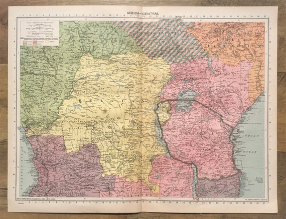 Map Of Africa 1940.I Etsystatic Com 14332720 R Il 0c2504 1899839667 I