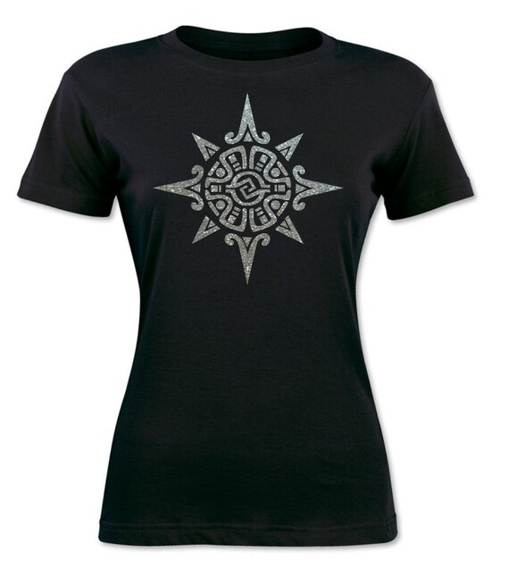 Power Symbol Of The Aztecs Iron On For T Shirts Heat Transfer