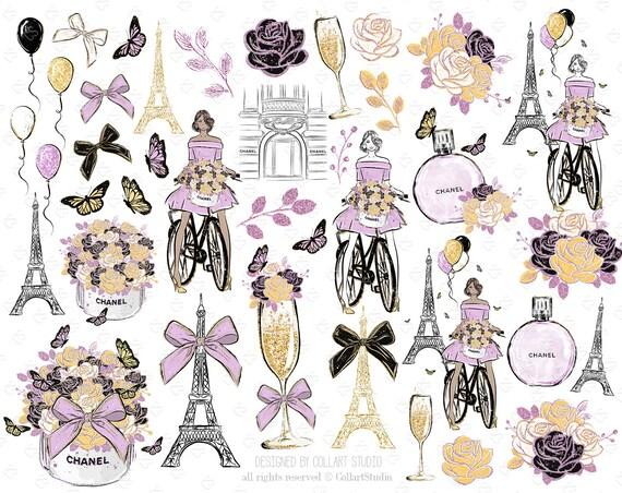 Printemps Des Clip Art Illustration De Mode Paris Clipart Mode