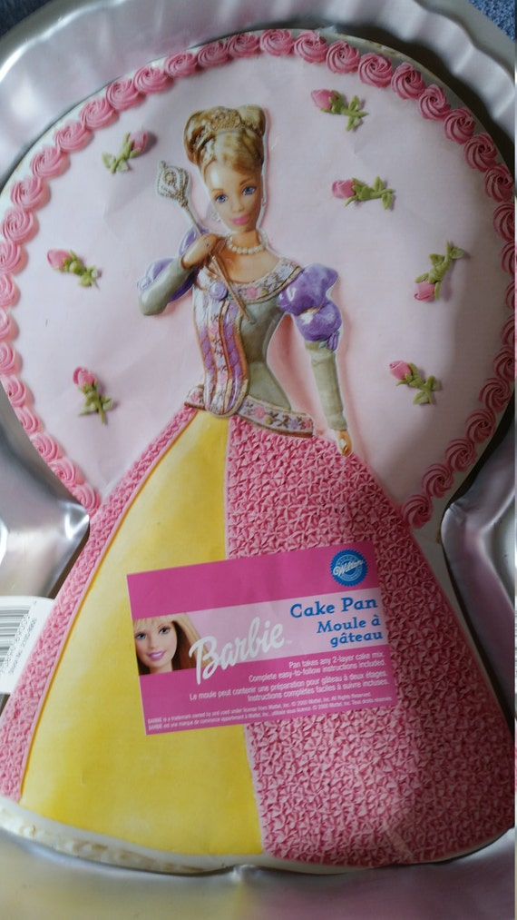 Barbie Cake Barbie Barbie Cake Pan Princess Cake Birthday Etsy
