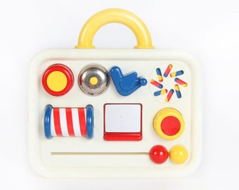 Vintage Baby Toys-Play Time Activity Board-Ambi Toys, E247