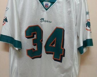 695a90ee3fd American Football Dolphins jersey NFL R.Williams 34 Reebok jersey M Medium  size HipHop Swag Rap