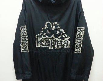 Vintage 90's Kappa Jacket Long jacket Hoodie Jumper Pullover Biglogo Spellout Large size Unisex vbQE7