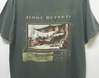Vintage 90s Jimmy Buffett Borometer Soup T-Shirts Tour 1995 XLarge Size