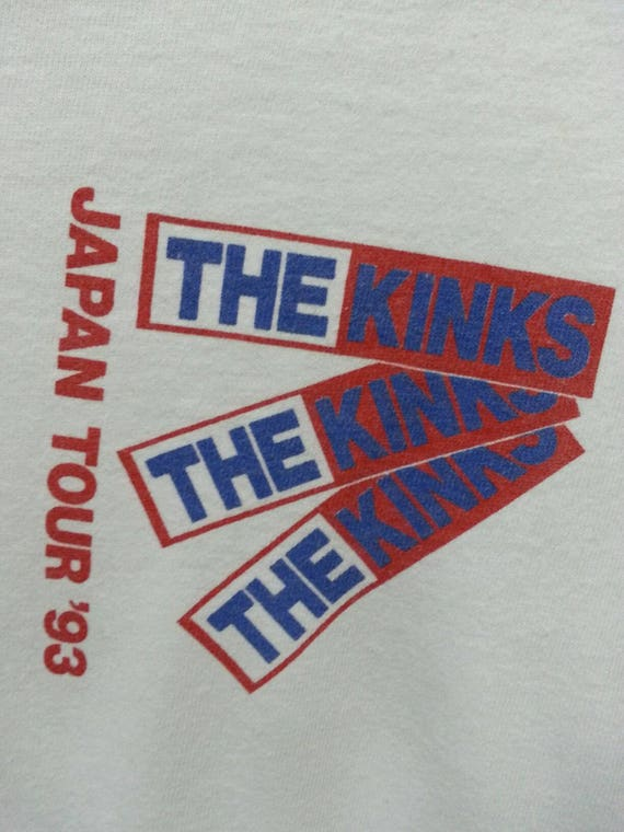 Vintage Kinks Usa Long Size T in sleeve The 93 Made XLarge Japan Shirts Tour qBFxqr