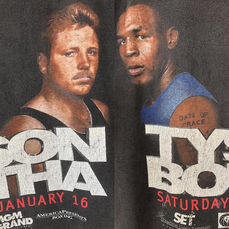Rare Vintage 90s Mike Tyson Champion Legend Boxing Promo T Shirt