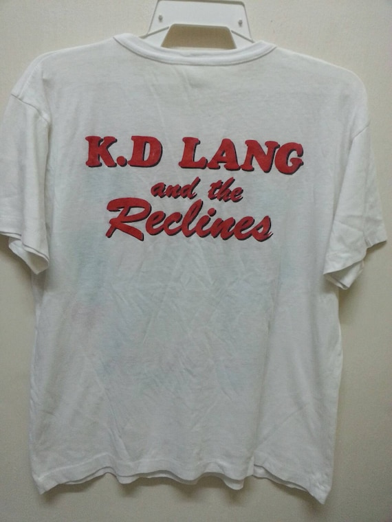 T Made K Tour D size Vintage Canada 80s And Reclines Large LANG in 1980s Shirts Promo The 86dwq6C