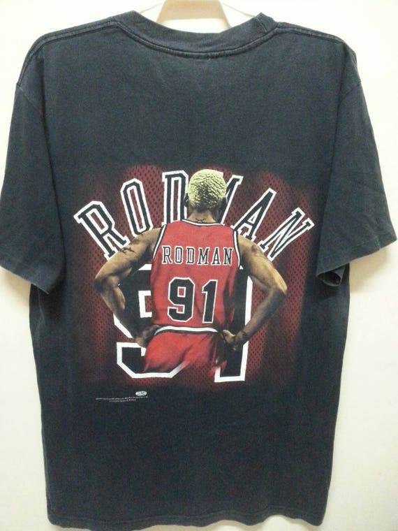Vintage anni   90 Dennis Rodman Chicago Bull T  66c0b839bd84