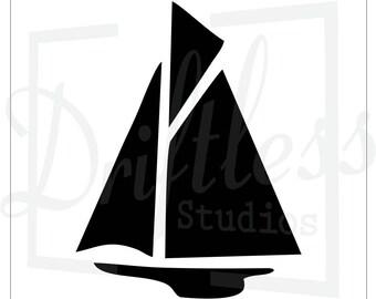 sailboat stencil etsy