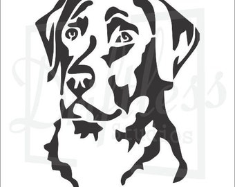 picture relating to Printable Dog Stencils known as Labrador stencil Etsy
