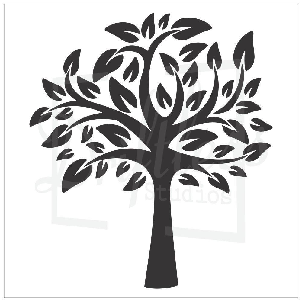 Family Tree Stencil Family Tree Template Tree Stencil Tree | Etsy