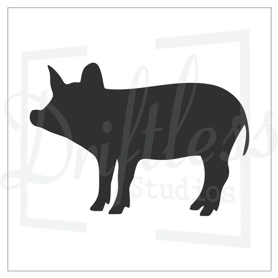 Pig Stencil Template Farm Wall Art