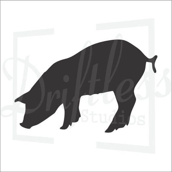 Pig Stencil 2 Template Farm Wall Art