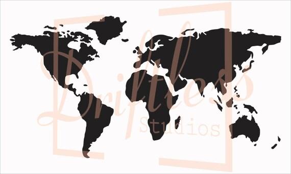 World Map Stencil Stencil of World Map Map Stencil World | Etsy