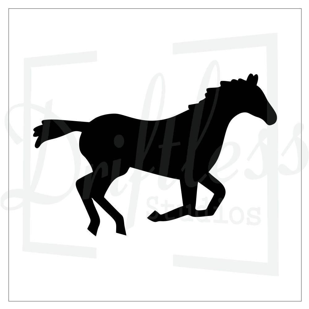 Horse Stencil 1 Equestrian Stencil Running Horse Stencil Etsy