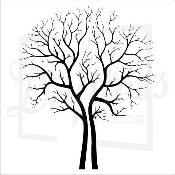 bare tree stencil family tree stencil tree stencil tree etsy