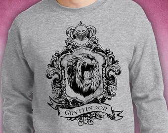 Screen printed Gryffindor crest unisex sweatshirt