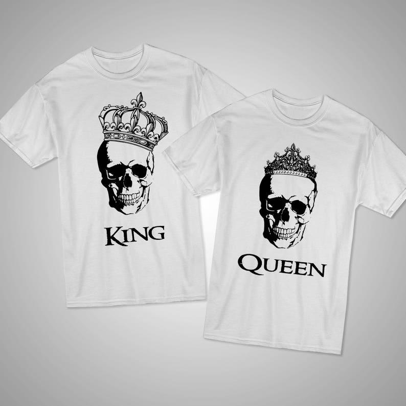 Schermo stampato camicie King Queen King e Queen coppia  48a689fc8ee6