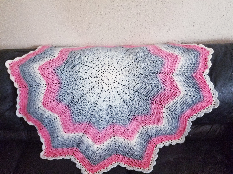 Crochet Baby Blanket Star Blanket Star Throw Star Baby Etsy