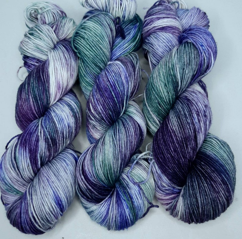Sock yarn Yarn Sock yarn hand dyed Wool blend sock yarn Wool sock yarn Hand dyed yarn Moonlight Sonata