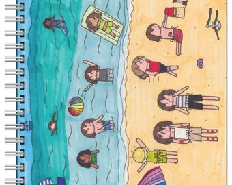 Student Seaside Vacation A5 Notebook