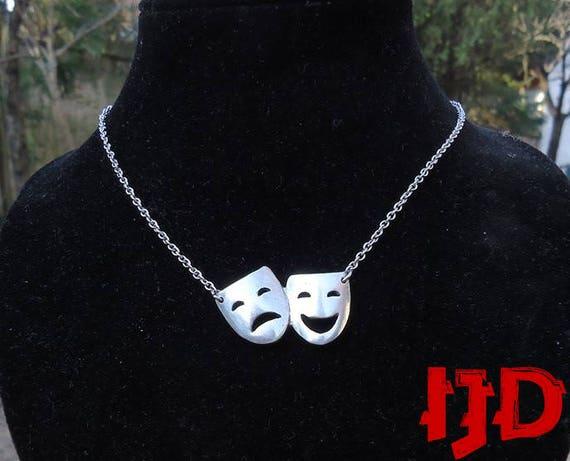 Womans Silver Satyr mask /& collar