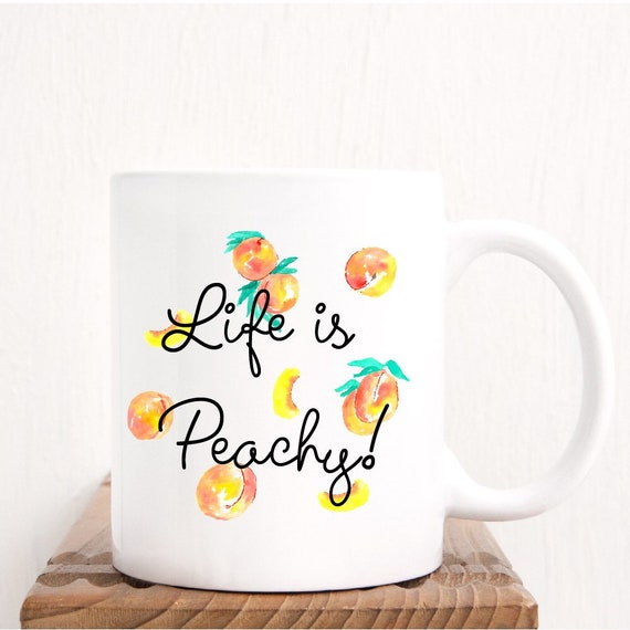 peach coffee mug mom coffee mug mugs for mom mugs for etsy