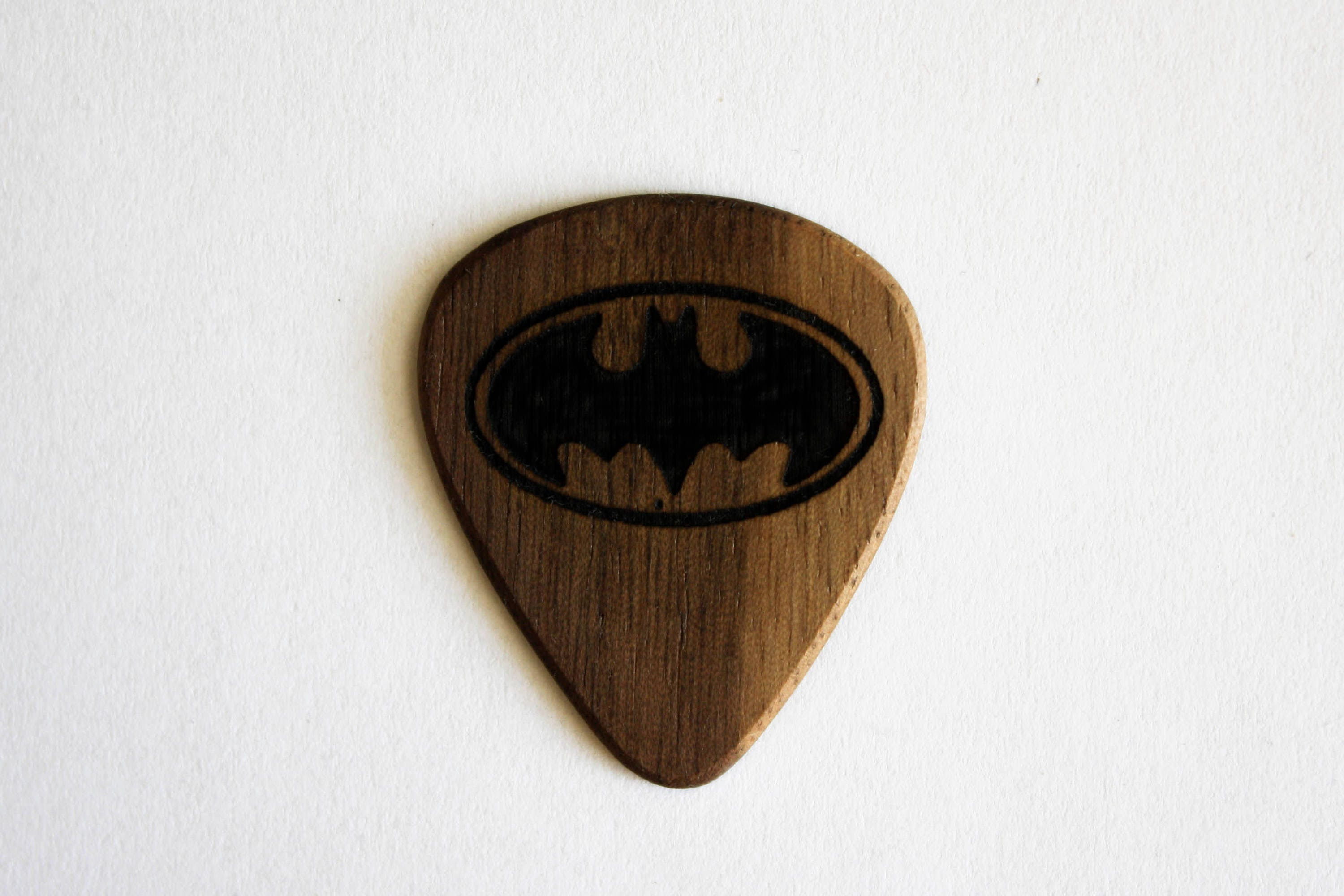 Batman pick for ukulele and guitar Wooden guitar pick Wood