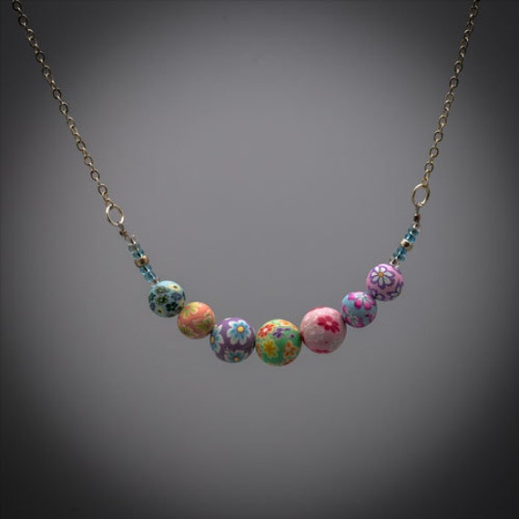 Handmade Beaded Necklace Boho Style Accessories Bespoke Jewelry