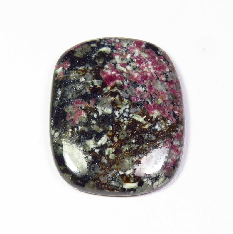 Top Quality Eudialyte Gemstone,Natural Eudialyte Cabochons,Eudialyte Loose stone,Eudialyte Semi precious 73Cts 38X30x6MM KB-4495