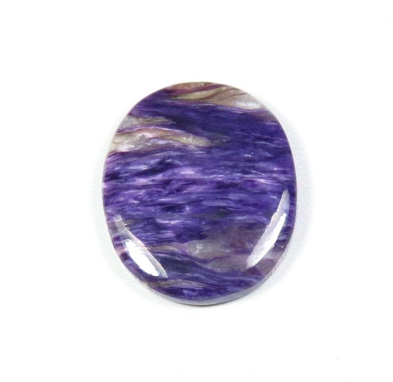 Oval Shape Purple Charoite Loose Jewelry Use Trendy! 34x29mm Natural Charoite Cabochon KB-5452 Natural Charoite Charoite Gemstone