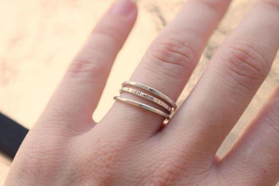 Damen Ring echt Silber 925 Sterling mit Peridot Quarz Rauchquarz und Perle
