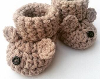 75cdbcfe5b21f Crochet baby booties | Etsy
