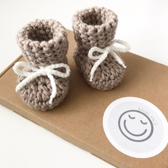 0dff91407afac New baby gift, pregnancy announcement, baby shower gift, crochet booties,  lace up booties, unisex baby shoes, babies first shoes