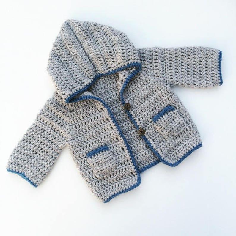 Crochet Baby Cardigan Baby Boy Cardigan Hooded Baby Etsy