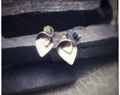 Sterling silver handmade folded flower 'Flourish' stud earrings